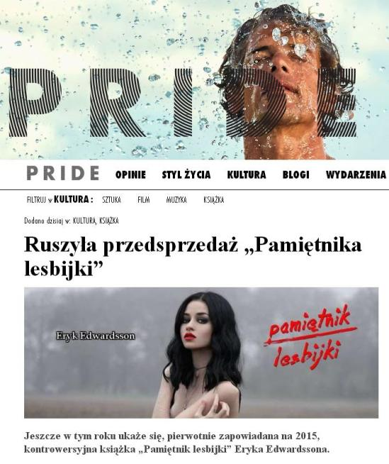 PRIDEMAG - artykuł o Pamiętniku Lesbijki