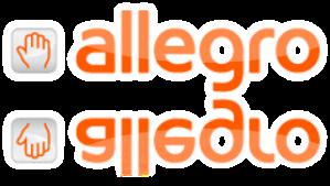 allegro logo lustrzane